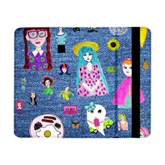 Blue Denim And Drawings Samsung Galaxy Tab Pro 8.4  Flip Case