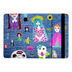 Blue Denim And Drawings Samsung Galaxy Tab Pro 10.1  Flip Case