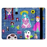 Blue Denim And Drawings Samsung Galaxy Tab Pro 12.2  Flip Case Front