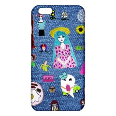 Blue Denim And Drawings iPhone 6 Plus/6S Plus TPU Case