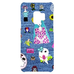 Blue Denim And Drawings Samsung S9 Black UV Print Case