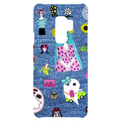 Blue Denim And Drawings Samsung S9 Plus Black UV Print Case