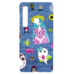 Blue Denim And Drawings Samsung A9 Black UV Print Case