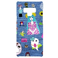 Blue Denim And Drawings Samsung Note 9 Black UV Print Case
