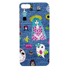 Blue Denim And Drawings Apple iPhone 7/8 TPU UV Case