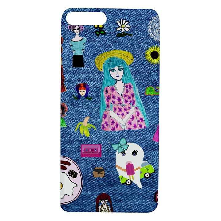 Blue Denim And Drawings Apple iPhone 7/8 Plus TPU UV Case