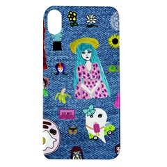 Blue Denim And Drawings Apple iPhone XR TPU UV Case