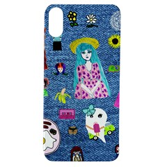 Blue Denim And Drawings Apple iPhone XS TPU UV Case