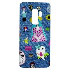 Blue Denim And Drawings Samsung Galaxy S9 Plus TPU UV Case
