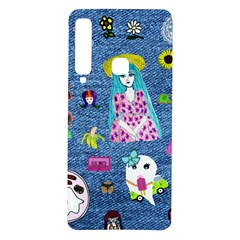 Blue Denim And Drawings Samsung Galaxy A9 TPU UV Case