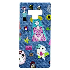 Blue Denim And Drawings Samsung Galaxy Note 9 TPU UV Case