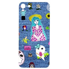 Blue Denim And Drawings iPhone 7/8 Soft Bumper UV Case