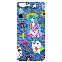 Blue Denim And Drawings iPhone 7/8 Plus Soft Bumper UV Case