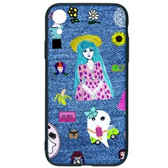 Blue Denim And Drawings iPhone XR Soft Bumper UV Case