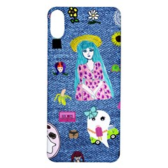 Blue Denim And Drawings iPhone X/XS Soft Bumper UV Case