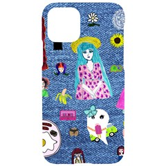 Blue Denim And Drawings iPhone 11 Pro Black UV Print Case