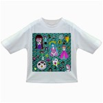 Blue Denim And Drawings Daisies Aqua Infant/Toddler T-Shirts Front