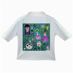 Blue Denim And Drawings Daisies Aqua Infant/Toddler T-Shirts Back