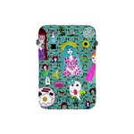 Blue Denim And Drawings Daisies Aqua Apple iPad Mini Protective Soft Cases Front