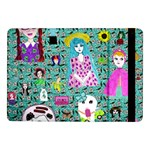 Blue Denim And Drawings Daisies Aqua Samsung Galaxy Tab Pro 10.1  Flip Case Front