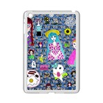 Blue Denim And Drawings Daisies iPad Mini 2 Enamel Coated Cases Front