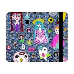 Blue Denim And Drawings Daisies Samsung Galaxy Tab Pro 8 4  Flip Case