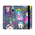 Blue Denim And Drawings Daisies Samsung Galaxy Tab Pro 8.4  Flip Case Front