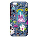 Blue Denim And Drawings Daisies iPhone 6 Plus/6S Plus TPU Case Front