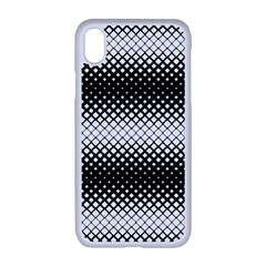 Geometrical Blocks, Rhombus Black And White Pattern Iphone Xr Seamless Case (white) by Casemiro