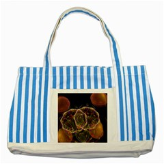 Fractal Geometry Striped Blue Tote Bag by Sparkle
