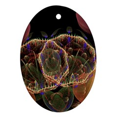Fractal Geometry Oval Ornament (two Sides) by Sparkle