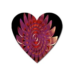 Chakra Flower Heart Magnet by Sparkle