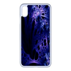 Fractal Web Iphone Xs Max Seamless Case (white)