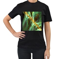 Abstract Illusion Women s T-shirt (black) (two Sided) by Sparkle