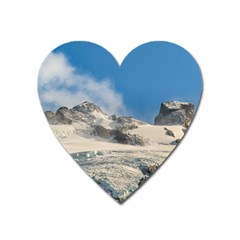 Snowy Andes Mountains, Patagonia - Argentina Heart Magnet by dflcprintsclothing