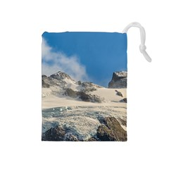 Snowy Andes Mountains, Patagonia - Argentina Drawstring Pouch (medium) by dflcprintsclothing