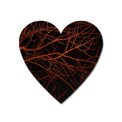 Dark Forest Scene Print Heart Magnet by dflcprintsclothing