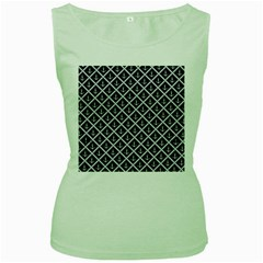 Anchors  Women s Green Tank Top by Sobalvarro