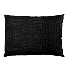 Black Crocodile Skin Pillow Case (two Sides) by LoolyElzayat