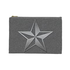 Star Grey Cosmetic Bag (large)