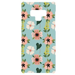 Flower White Blue Pattern Floral Samsung Note 9 Black Uv Print Case