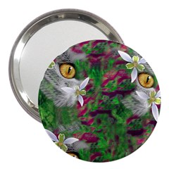 Illustrations Color Cat Flower Abstract Textures 3  Handbag Mirrors by Alisyart