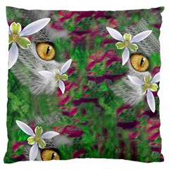 Illustrations Color Cat Flower Abstract Textures Standard Flano Cushion Case (two Sides) by Alisyart