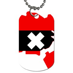 Flag Map Of Amsterdam Dog Tag (two Sides) by abbeyz71