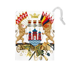 Greater Coat Of Arms Of Copenhagen Drawstring Pouch (large) by abbeyz71