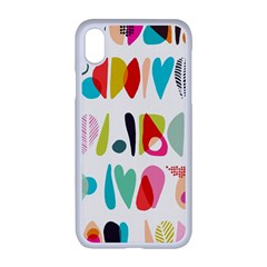 Scandinavian Folk Art Halfsies Iphone Xr Seamless Case (white)