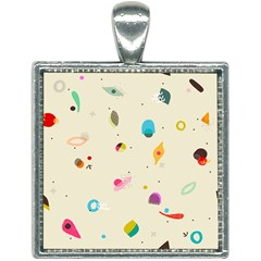 Dots, Spots, And Whatnot Square Necklace