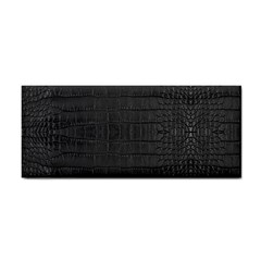 Black Alligator Skin Hand Towel by LoolyElzayat