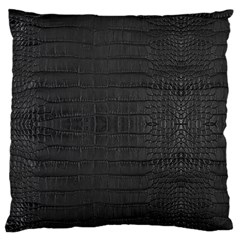 Black Alligator Skin Standard Flano Cushion Case (one Side) by LoolyElzayat