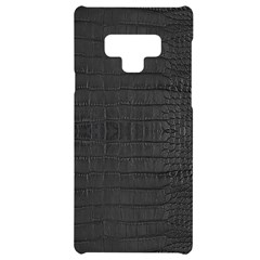 Black Alligator Skin Samsung Note 9 Black Uv Print Case  by LoolyElzayat